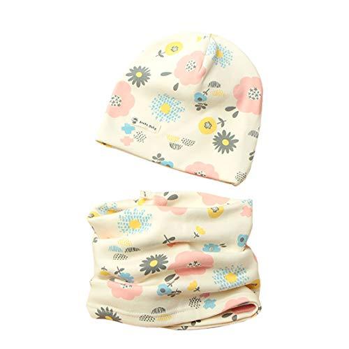 Boomly Berretto Scaldacollo Autunno E Inverno Carino Morbida Caldo Set Di Cappello Sciarpa Berretto In Cotone Scaldacollo Sciarpa Per Bambino O-Ring Sciarpa Infantile (#4, Small)