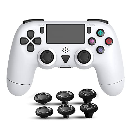PS4 コントローラー「最新バージョン対応」ワイヤレス Bluetooth接続 リンク遅延なし FPS改良型 二重振動 急速充電 600mAh大容量 高耐久ボタン タッチパッド 精密操作 スピーカー搭載 スティックキャップ2組付き 日本語取扱説明書