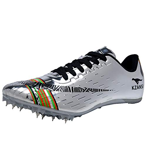 X/L Zapatillas de Atletismo con Clavos Zapatillas de Correr a Distancia Zapatillas de Carrera atléticas para Correr para Hombre y Mujer (Color : F, Size : 7.5 UK)