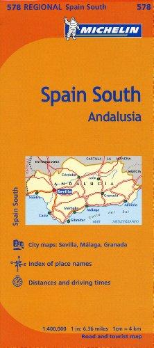 MUL-MAP-MICHELIN SPAIN ANDALUC (Maps/Regional (Michelin))