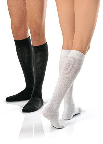 BSN medical/Jobst 110525Kompressionsstrümpfe, kniehoch, 15–20mmHg, geschlossener Zehenbereich, kühles Weiß, Große, mit Kalb