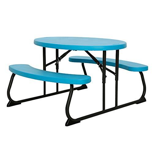 Image of the LIFETIME 60229 Kids Oval Picnic Table, Glacier Blue