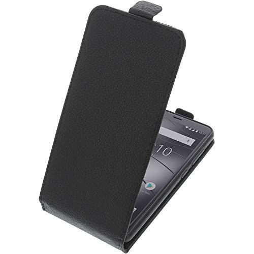 foto-kontor Tasche für Gigaset GS280 Smartphone Flipstyle Schutz Hülle schwarz