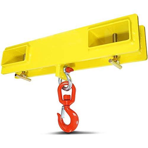 Titan Forklift Lifting Hoist Swivel Hook Mobile Crane 4000 lb. Capacity Lift