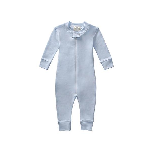 Owlivia Organic Cotton Baby Boy Girl Zip up Sleep N Play, Footless, Long Sleeve