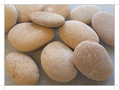 SOOTHING IDEAS 1kg Japanese Pink River Stones 50-130mm (7-9) Home Garden Pond