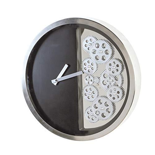 Casablanca - Uhr - aus Edelstahl und ABS Kunststoff schwarz-silberfarben D 39 cm