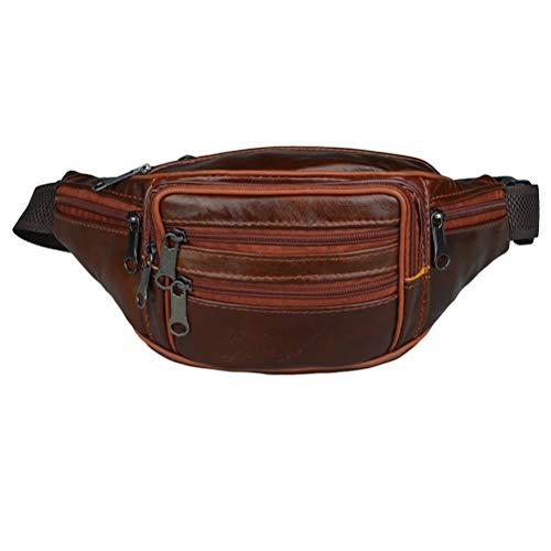 Sac de taille en cuir porte-monnaie sac à bandoulière étanche Messenger sac de poitrine en plein air de sport de voyage pour hommes