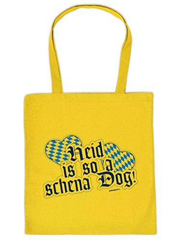 Mega Coole Bayerische Tragetasche - Boarische Redensarten - Heid is so a schena Dog! /Goodman Design