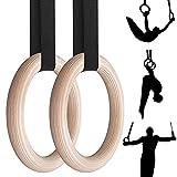 Gymnastikringe, rutschfeste Trainingsringe mit 4,5 m verstellbaren Trägern, Schnellmontageschnalle, Crossfit-Ringe für Heimgym, Ganzkörpertraining, Übung, Outdoor-Training, Belastbarkeit 250 kg