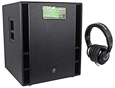 """Mackie THUMP18 THUMP-18 18"""" 1200w 18"""" Powered Subwoofer Sub+Free Headphones by Mackie"""