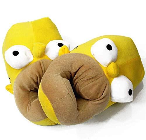 Dirgee Anime Unisex Hausschuhe Simpsons Schuhe Simpsons Pantoffel Plüsch Pantoffeln (27cm/10.6in/EU44)