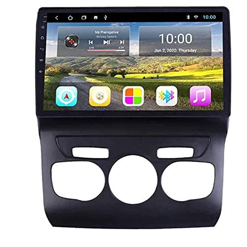 MISSLYY Coche EstéReo De NavegacióN GPS Sistema para Citroen C4L 2013-2017, Auto Bluetooth IPS Pantalla TáCtil Coche Radio EstéReo Multimedia MúSica Player 9/10inch (4g+WiFi)