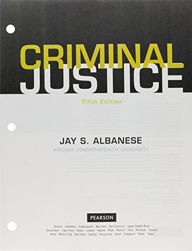 Criminal Justice, Student Value Edition (5th Edition)