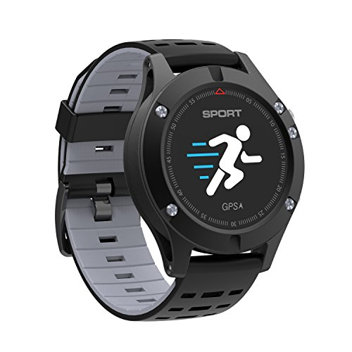 Bounabay GPS Smart Sports Watch Fitness Tracker with Activity Tracking Heart Rate Monitor Sleep Moniter Message Notification Waterproof Activity Tracker for Android and iOS