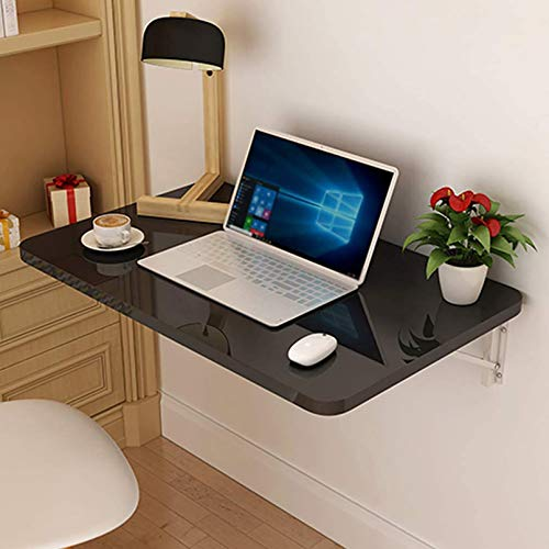 Wall-mounted folding table,Folding Wall-Mounted Table en Wood,Kitchen Fold Down Dining Table, Study Writing Table Workstation For Home Office White
