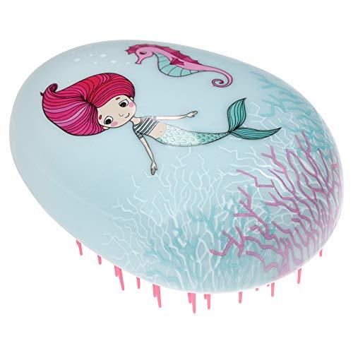 PARSA BEAUTY Profi Entwirr-Wunder Kinder-Haarbürste Meerjungfrau zum Entwirren und für geschmeidiges und glänzendes Haar