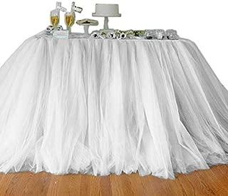 Joybuy tulle tutu tabella gonna in tulle gonne da tavola per matrimonio decorazioni Baby Shower festa di nozze tabella battiscopa Home Textile White