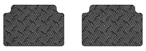 Intro-Tech RR-138R-CF Second Row 2 pc. Custom Fit Auto Floor Mats for Select Bentley Continental GT/GTC Models - Simulated Carbon Fiber
