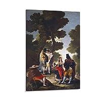 フランシスコ・デ・ゴヤアンダルシアの散歩 プリント フォトアート 絵画 キャンバス ポスター 家の装飾 寝室 現代の装飾 ポスター ギフト20×30inch(50×75cm)