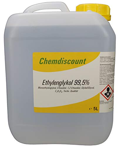 5 Liter Glykol mind. 99,5{fcebf550502eb75a6c698ef12e45fc1cc9e35ea521a2aea714da8269a14cf82a}, Monoethylenglykol, Ethylenglykol, Konzentrat, versandkostenfrei!