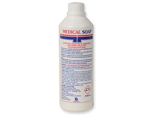 Germo Sapone Antisettico Liquido per la Disinfezione delle Mani e della Cute, confezione da 12 flaconi da 500 ml