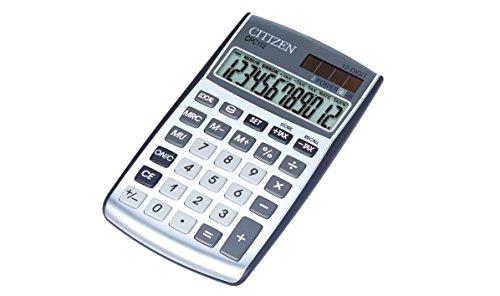 Citizen CPC112 Taschenrechner Währungsumrechnung Steuerrechnung Gewinnaufschlagsrechnung solar- und batteriebetrieben zwölfstelliges Display