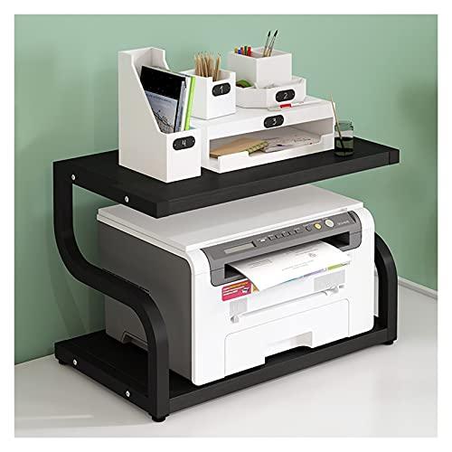 Soporte para ImpresoraOrganizador Soporte de impresora grande, rack de pantalla de Turn-N-Tubo, Organizador de soporte de impresora de escritorio para máquina de fax, escáner, archivos (cuatro colores