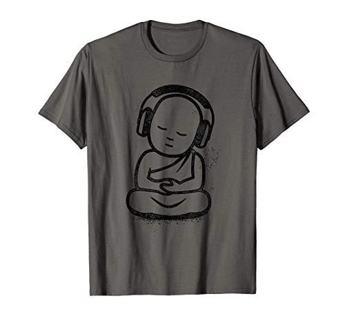 Buddha Headphones - Buddhist Monk DJ Gift T-Shirt