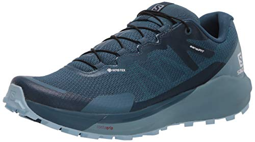 SALOMON Shoes Sense Ride, Zapatillas de Running Mujer, Multicolor (Indian Teal/Smoke Blue/Angel Falls), 38 2/3 EU