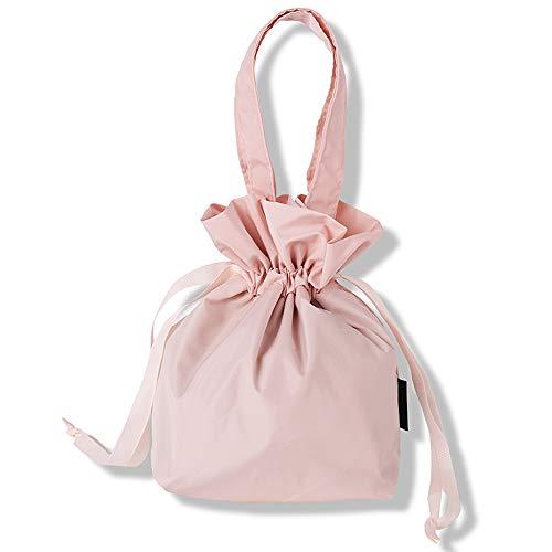 Lazy Make-up-Tasche Kordelzug Bündeltasche Kosmetiktasche mit kleinem Waschbeutel Nordic Serie Pink