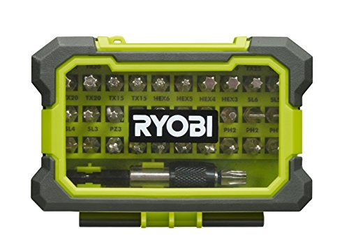 Ryobi 5132002798 Bitset 32-tlg. RAK32MSD, Schwarz, Grün