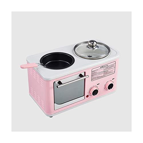 RJJX Home Multifunción 3 en 1 Máquina Desayuno Horno Tostador eléctrico Fry Pan Pan Sandwich Maker Herramientas eléctricas Horno de Cocina 1200W 220V (Plug Type : CN)