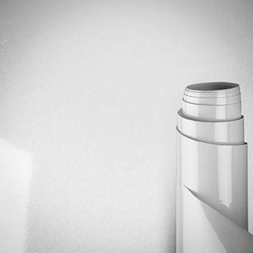 AWNIC Vinilo Papel Adhesivo para Muebles Blanco Perla/Elegante/Muebles Pegatinas Impermeable a Prueba de Aceite para el Forro de los Muebles/Armario Mesa Baño Cocina Decoración 300x40cm