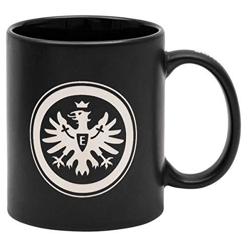 Eintracht Frankfurt Tasse - Henkeldruck - Kaffeetasse Relief Logo SGE - Plus Lesezeichen I Love Frankfurt