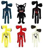 ULIN 6 unids/Set de Juguete de Peluche con Cabeza de Sirena, muñeca de Peluche de Monstruo de 14 Pulgadas, Figura de Juguete, Juguetes de Navidad para Halloween, Regalos para niños