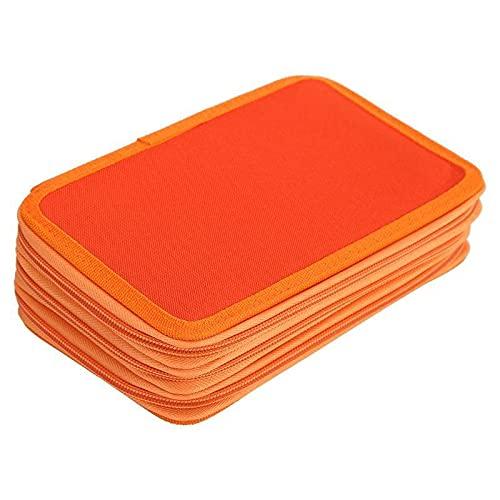 XXSW Caja de exhibición para lápices escolares de 4º piso, caja de lápices para niños, multifunción, bolsa de almacenamiento de gran capacidad, kit de papelería de lujo (color naranja)
