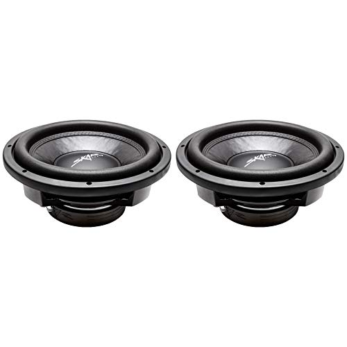 (2) Skar Audio VD-12 D4 12' 800W Max Power Dual 4 Ohm Shallow Mount Subwoofers, Pair of 2