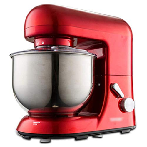GAOLIGUO Amasadora 5L, 1000W 6 Velocidades Robot Cocina Multifuncional Mezclador de Alimentos Incluye 3 Accesorios de batido Amasadora para Repostería,Red