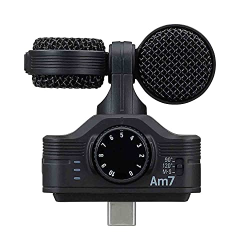Zoom Am7 Android Stereo Microphone for Android Devices with USB-C Connector...