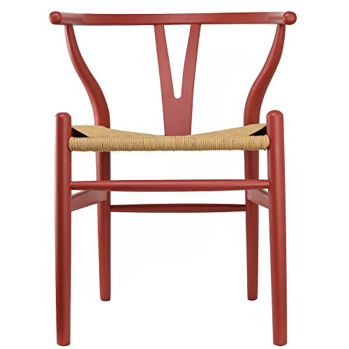 2xHome CH-BoneChair Dining Chair, Red,1 piece
