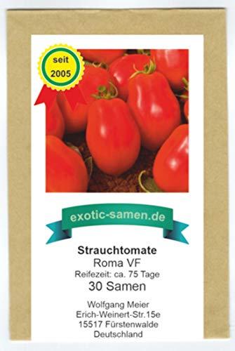 Tomate - Strauchtomate - Eiertomate - mittelfrüh - Roma VF - 30 Samen