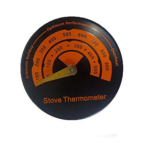 MOSINITTY Magnetisches Ofenthermometer, einfache Installation, Temperaturmessgerät für Holzöfen, empfindliches Kaminofen-Thermometer