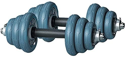 Tapiculares de músculo Ajustables Molas sólidas Mandillas de Acero sólido con Cubierta de protección contra Goma y Barra de conexión Utilizada como Barra (Peso: 15 kg (7 5 kg * 2))-15kg (7.5kg * 2)