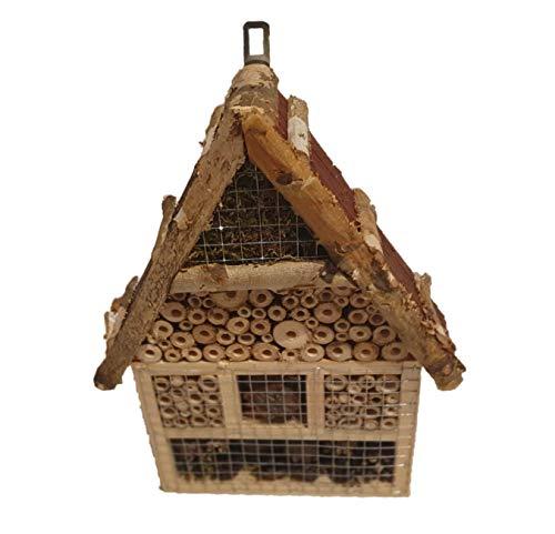 WeidenkorbWelt Insektenhaus Natur 26x9x37 cm Insektenhotel Nisthilfe und Schutz für Nützlinge