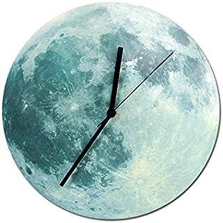 Romantic Luminous Silent Designing Moon Wall Clock Home Decor