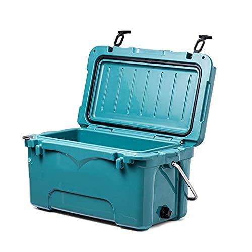 N\C Enfriador portátil de 25 Cuartos, Cofre de Hielo portátil, Enfriador de Camping con asa de Transporte Caja de Hielo a Prueba de Fugas para Acampar LKWK