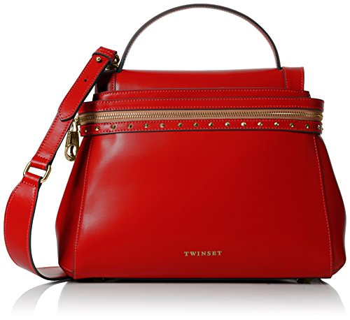 Twin Set As7pw2, Borsa a Tracolla Donna, Rosso (Ultra Red), 14x24x32 cm (W x H x L)