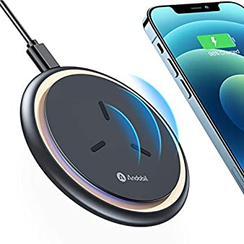 andobil Wireless Charger [2021 Intelligent Chip] Qi-Certified 15W/10W/7.5W Fast Wireless Charging Pad with Cooling Fan Compatible iPhone 12 Pro Max,11,XS,Samsung Galaxy S21 S20 S10,Note 20/10 Pixel 5