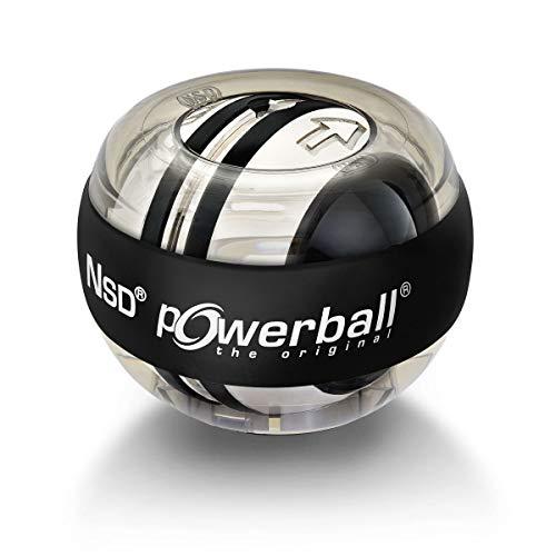 Powerball Autostart Core, gyroskopischer Handtrainer mit Metallrotor inkl. Aufziehmechanik, transparent-grau, das Original von Kernpower